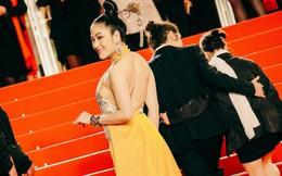Hoa hậu Tuyết Nga khoe lưng trần gợi cảm trên thảm đỏ Cannes