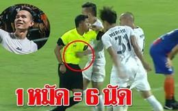 Quyết đánh bại Việt Nam, Thái Lan làm điều khó tin với cầu thủ đấm trọng tài