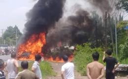 Ô tô 16 chỗ trên đường từ TP.HCM về Đà Lạt bốc cháy khi đang lưu thông, 1 người mắc kẹt tử vong
