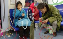 Chùm ảnh gây sốt MXH Trung Quốc: Cô dì chú bác ăn uống tự nhiên rồi xả rác trên tàu điện ngầm như ở nhà khiến ai cũng bức xúc