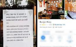Tờ giấy gây tranh cãi dán ngoài cửa hàng bán đồ ăn nhanh