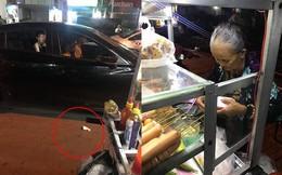 Đỗ ô tô gần xe bán chả cá viên, hành động của thanh niên khiến người chứng kiến bức xúc