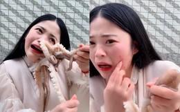 Livestream ăn bạch tuộc sống, cô gái bất ngờ bị bạch tuộc ăn lại và cái kết khiến cư dân mạng phẫn nộ