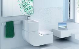 Gợi ý các thiết kế bồn cầu ăn gian diện tích cho những người sở hữu một căn phòng tắm chật hẹp