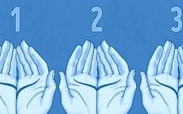 Đặt 2 lòng bàn tay cạnh nhau để biết chủ nhân yêu và tôn thờ quy tắc gì trong cuộc sống