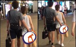 Bạn gái ăn mặc hở nhưng hành động của bạn trai còn gây kinh ngạc hơn