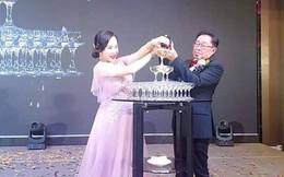 Đám cưới rình rang của nữ ca sĩ Malaysia đình đám một thời, cô dâu bụng to vượt mặt nhưng tuổi tác của chú rể mới gây ngỡ ngàng