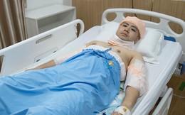 Bất ngờ với hình ảnh Akira Phan nằm băng bó trên giường bệnh sau khi hút mỡ giảm cân