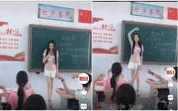 Dân mạng xôn xao cô giáo xinh đẹp mặc quần đùi khoe chân dài đứng trên bục giảng trường tiểu học nhưng ngã ngửa khi biết sự thật đằng sau