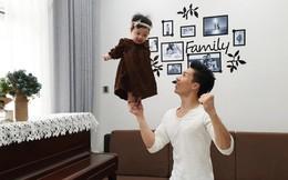 """Quốc Nghiệp tung clip làm xiếc với con gái 6 tháng tuổi khiến nhiều người """"thót tim"""""""