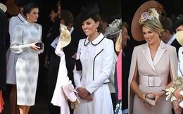 """Cuộc """"đọ sắc"""" có 1-0-2: Ba biểu tượng sắc đẹp của hoàng gia thế giới xuất hiện cùng nhau, Công nương Kate kém sắc nhất, chịu lép vế trước U50"""