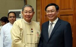 Phó Thủ tướng Vương Đình Huệ tiếp Bộ trưởng Kế hoạch và Tài chính Myanmar