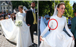 Thêm một Hoàng tử trên thế giới nữa kết hôn khiến bao cô gái tan giấc mộng, cô dâu bị soi chi tiết kém sang với váy cưới thảm họa