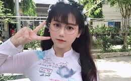 """Girl xinh Bình Dương sinh năm 2001 được mệnh danh là """"cực phẩm áo dài"""": Áo trắng có làm anh say nắng?"""
