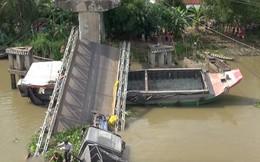 Xe 30 tấn qua cầu 8 tấn gây sập cầu Tân Nghĩa ở Đồng Tháp