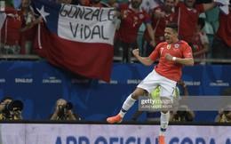 """""""Sao xẹt"""" của M.U lại tỏa sáng, Chile vượt dễ vòng bảng"""