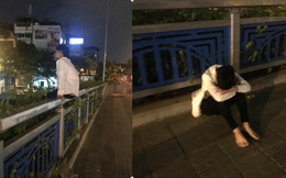 Đi thi không làm được bài, nam sinh ngồi một mình trên thành cầu, chẳng dám về nhà