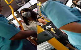 """Hà Nội: Xuất hiện thêm kẻ biến thái đứng """"tự sướng"""" trên xe buýt phía sau 2 cô gái"""