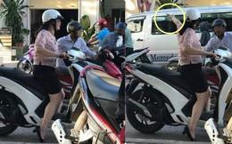 Người phụ nữ đi SH dừng cạnh ông chú dắt xe Wave cũ, hành động ngay sau đó mới gây ngạc nhiên