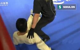 Võ sư Thiếu Lâm vừa hèn hạ chọc mắt đối thủ lại gục ngã muối mặt ngay trong hiệp 1