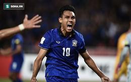"""Sau """"tiểu Messi"""", Thái Lan có nguy cơ mất thêm """"trọng pháo"""" trước trận gặp Việt Nam"""