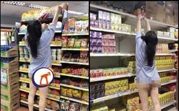 Ăn mặc hớ hênh đi siêu thị, cô gái trẻ khiến người xung quanh đỏ mặt