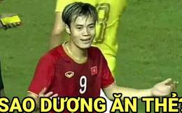 Vẻ mặt ngơ ngác của Văn Toàn khi dính thẻ vàng và loạt ảnh chế hài hước sau trận Việt Nam - Thái Lan