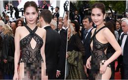 """Ngọc Trinh đáp trả """"cực gắt"""" khi bị đồng nghiệp showbiz lên án việc mặc đồ hở hang dự Cannes"""