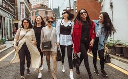 """Hoa hậu Hà Kiều Anh, Dương Mỹ Linh và hội bạn thân gây """"náo loạn"""" đường phố Hàn Quốc"""
