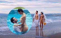 Ảnh cưới mặc bikini nóng bỏng, táo bạo của 3 mỹ nhân showbiz Việt