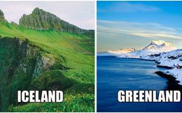 Chuyện ngược đời: Tại sao Iceland lại toàn màu xanh, Greenland lại ngập tràn màu trắng?