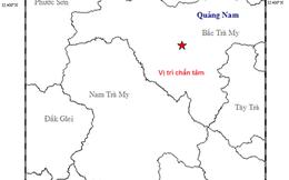 Động đất 3.8 độ Richter ở huyện Bắc Trà My