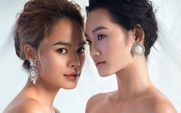 Á quân The Face Quỳnh Anh và Thu Hiền đọ sắc khi mặc váy cưới