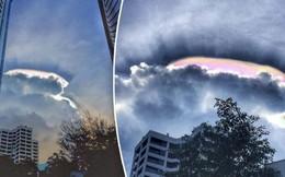 Cư dân mạng Malaysia hào hứng chia sẻ những bức ảnh về đám mây hào quang kỳ lạ