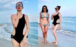 Diva Hồng Nhung và diễn viên múa Linh Nga diện bikini gợi cảm