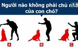Theo bạn, ai không phải chủ nhân chú chó? Đáp án sẽ tiết lộ điều bất ngờ về tư duy của bạn