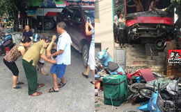 Ảnh hiện trường hỗn loạn của vụ xe khách tông hàng loạt xe máy ở Quảng Ninh liên tục xuất hiện trên MXH