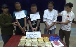 Nhóm đối tượng chạy 2 xe ô tô chở hơn 6 vạn viên ma túy qua biên giới về Việt Nam