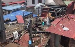 Hiện trường vụ nổ khiến mặt đất rung chuyển, nhà thủng mái và một phụ nữ tử vong ở Hải Phòng