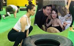 Nhã Phương chăm chỉ tập gym sau khi sinh con cho Trường Giang?