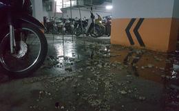 Hà Nội: Hầm gửi xe khu đô thị Thanh Hà bốc mùi hôi thối do vỡ đường ống nước thải