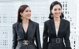 Hoa hậu Thu Hoài vui vẻ hội ngộ Kim Phượng trong sự kiện