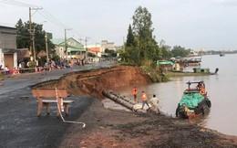 Tuyến quốc lộ 91 huyết mạch ở miền Tây bị sạt lở xuống sông Hậu