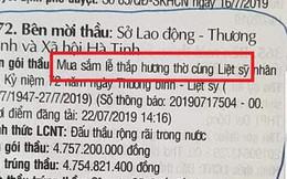 Cục Người có công lên tiếng về gói thầu gần 5 tỷ mua lễ thắp hương liệt sĩ của Hà Tĩnh