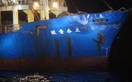 """""""Đâm móp đầu"""" tàu hàng Đài Loan, tàu chiến TQ không cho kiểm tra, chạy thẳng về Phúc Kiến"""