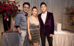 Hoa hậu Thu Hoài diện đầm tiền tỷ gợi cảm dự sinh nhật ca sĩ Quang Dũng