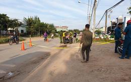 Tông thùng rác để bên đường, bốn mẹ con thương vong dưới bánh xe container
