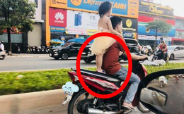 Để bé gái đứng sau yên xe rồi phóng vù vù trên đường, người đàn ông khiến tất cả bức xúc