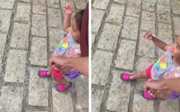 Tăng Thanh Hà dắt con gái đi học, vô tình làm lộ gương mặt cô bé vì sự cố bất ngờ