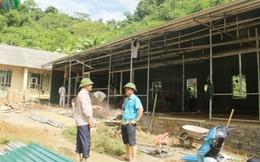 Học sinh vùng lũ Sa Ná đã có phòng học tạm